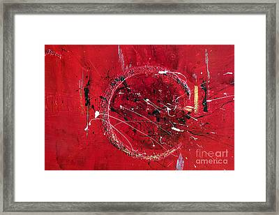 Inspiration- Abstract Painting Framed Print by Ismeta Gruenwald