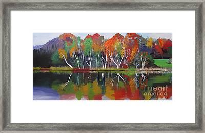 Inspiration Autumn Evening Framed Print
