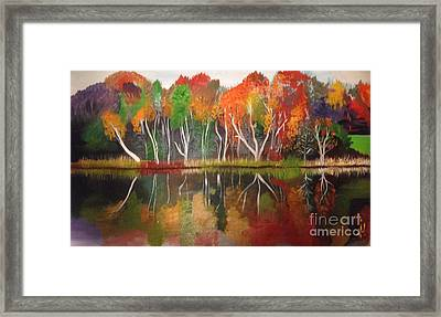 Inspiration Autumn Evening In Work Framed Print