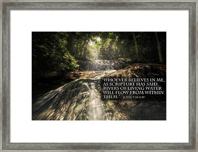 Framed Print featuring the photograph Inspiration Falls by Joshua Minso