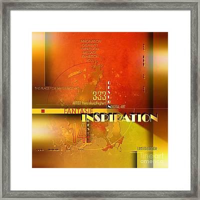 Inspiration Framed Print by Franziskus Pfleghart