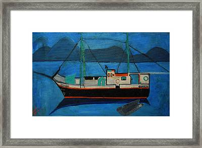 Inspiration From My Sayling Days On The Atlantic Oceon Maroc Framed Print