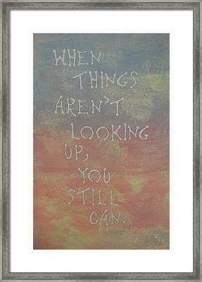 Inspiration I Framed Print by Thomasina Durkay