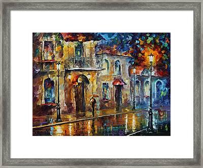 Inspiration Of Beauty - Palette Knife Oil Painting On Canvas By Leonid Afremov Framed Print by Leonid Afremov