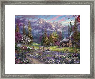 Inspiration Of Spring Meadows Framed Print by Chuck Pinson