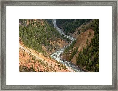 Inspiration Point, Yellowstone River Framed Print by Michel Hersen
