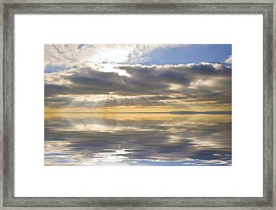 Inspiration Reflection Framed Print by Matthew Gibson