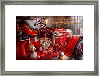 Inspiration - Truck - Waiting For A Call Framed Print by Mike Savad