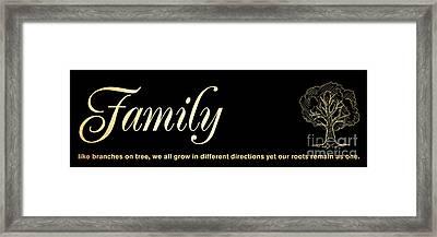 Inspirational Art - Family Framed Print by Joy House Studio