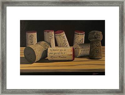 Inspirational Framed Print by Brien Cole