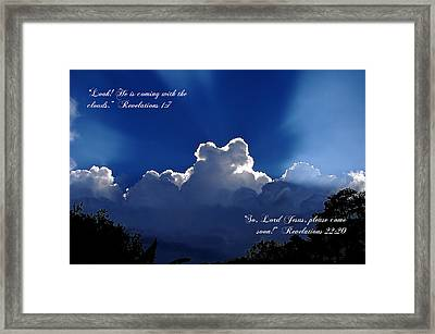 Inspirational Clouds Framed Print