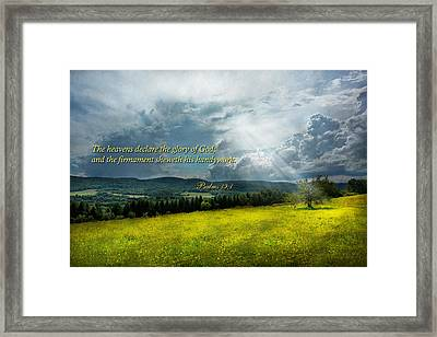 Inspirational - Eternal Hope - Psalms 19-1 Framed Print by Mike Savad