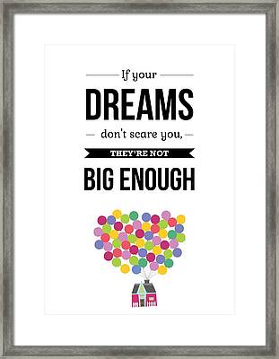 Inspirational Motivational Art Wall Quotes Poster Framed Print by Lab No 4 - The Quotography Department