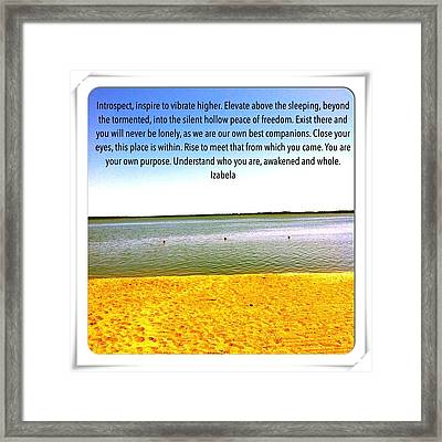 Inspirational Quote Framed Print