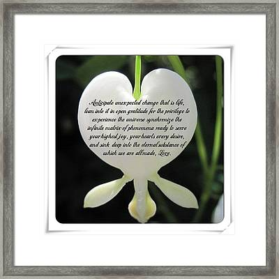 Inspirational Quotes Framed Print