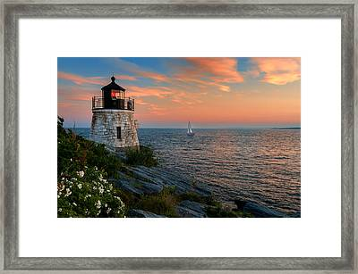 Inspirational Seascape - Newport Rhode Island Framed Print