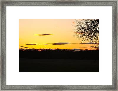 Inspirational Sunset  Framed Print by Ann Murphy