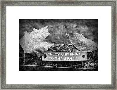 Inspirational Words To Live By In Black And White Framed Print