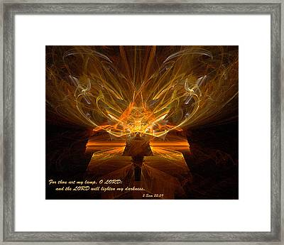 Framed Print featuring the digital art Inspirations Light by R Thomas Brass