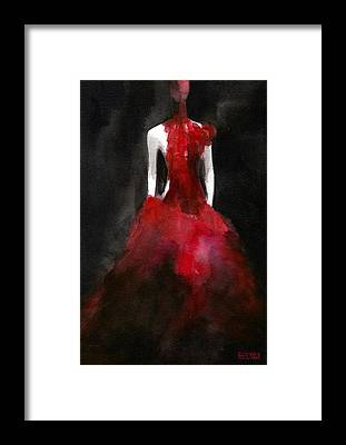 Red Dress Framed Prints