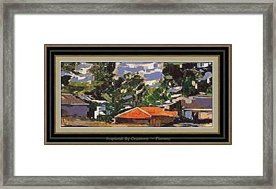 Framed Print featuring the painting Inspired By Cezanne Ibc2 by Pemaro