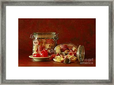 Inspired By Pasta Framed Print by Inspired Nature Photography Fine Art Photography