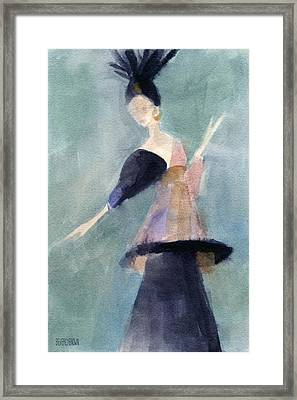 Inspired By Paul Poiret Fashion Illustration Art Print Framed Print by Beverly Brown Prints