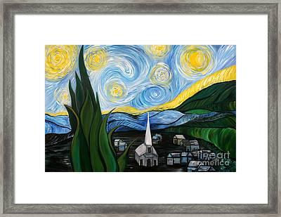 Inspired By Van Goghs Starry Night  Framed Print