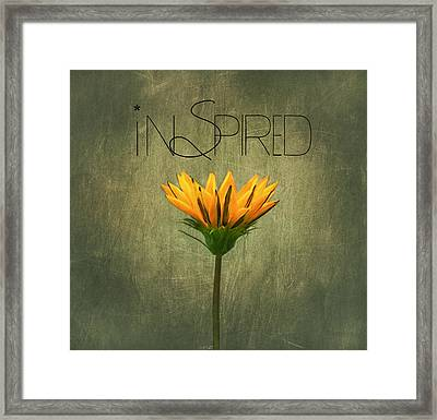 Inspired Framed Print by Kim Hojnacki