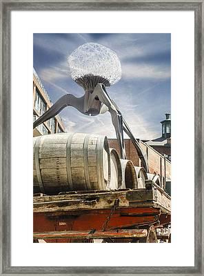 Installation At Distillery Framed Print
