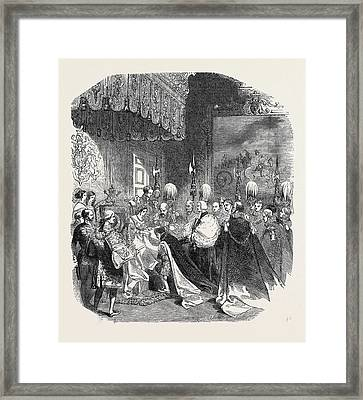 Installation Of A Knight Of The Bath Framed Print