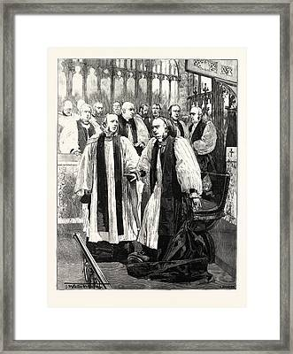 Installation Of The Archbishop Of York In York Minster Framed Print