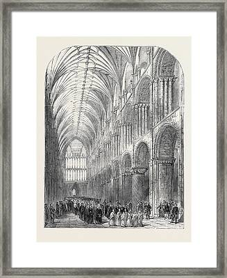 Installation Of The Bishop Of Norwich Framed Print
