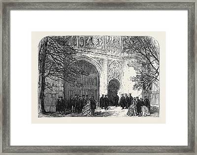 Installation Of The New Master Of Trinity College Cambridge Framed Print