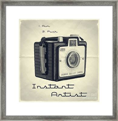 Instant Artist Framed Print by Edward Fielding