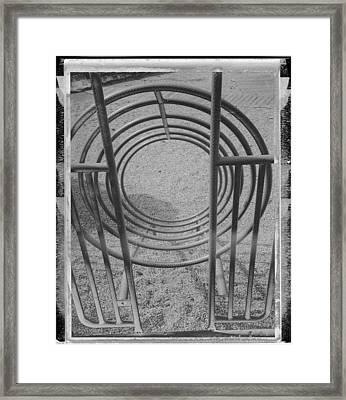 Instant Circles Framed Print by Brady D Hebert