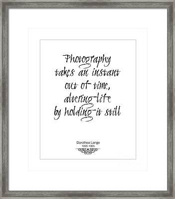 Instant Of Time Framed Print