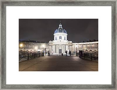 Institut De France - Parisian Night Scene Framed Print by Mark E Tisdale