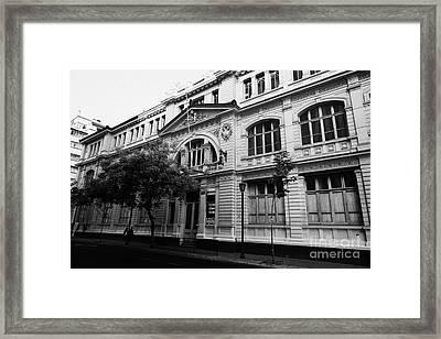 instituto superior de comercio eduardo frei montalva Santiago Chile Framed Print by Joe Fox