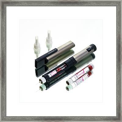 Insulin Pen Framed Print by Mark Sykes