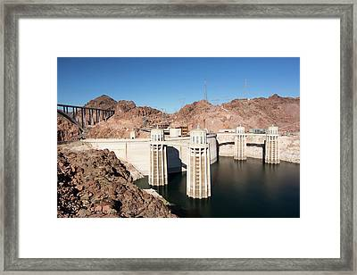 Intake Towers For The Hoover Dam Framed Print by Ashley Cooper
