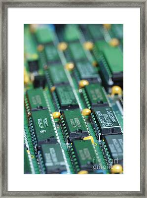 Integrated Circuits Framed Print by GIPhotoStock