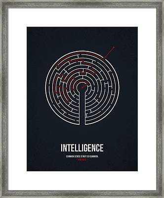 Intelligence Framed Print by Aged Pixel