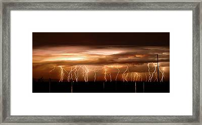 Intense Electrical Storm Framed Print