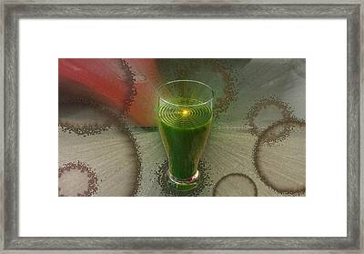 Intense Juicing Framed Print