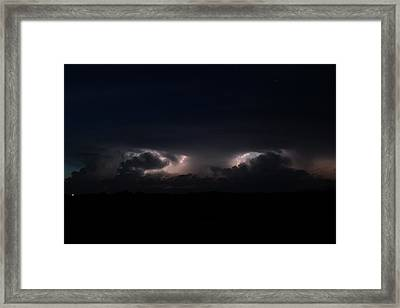 Framed Print featuring the photograph Intense Lightning by Ryan Crouse
