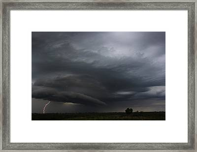 Intense Storm Cell Framed Print by Ryan Crouse