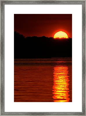 Intense Sunset Framed Print