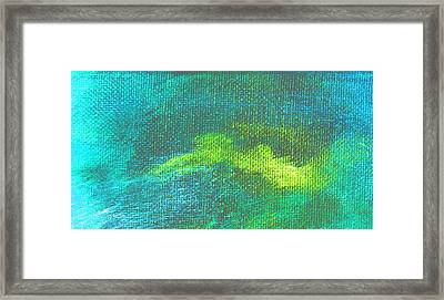 Intensity Aqua Blue Framed Print by L J Smith
