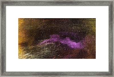 Intensity Golden Purple Framed Print by L J Smith